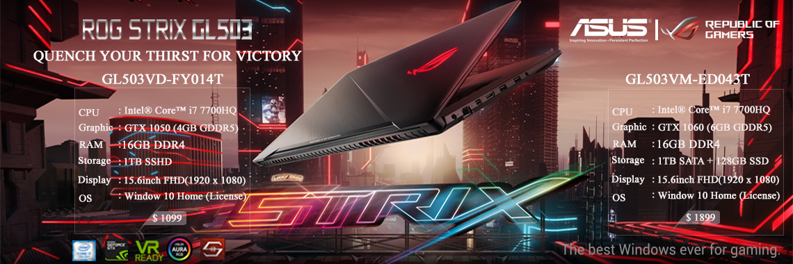 ROG Strix GL503 (SCAR Edition)